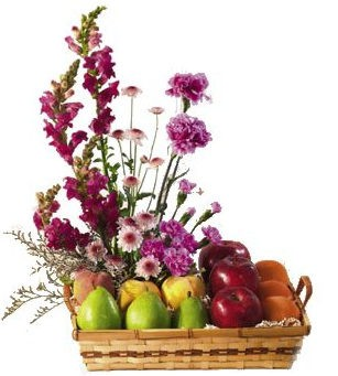 Product Details Fruit And Flower Serving Basket (FB 001) For $59.99. Now  Serving Fresh Fruit U0026 Flowers In This Basket With Handles. 3 Pears, 3  Apples, ...