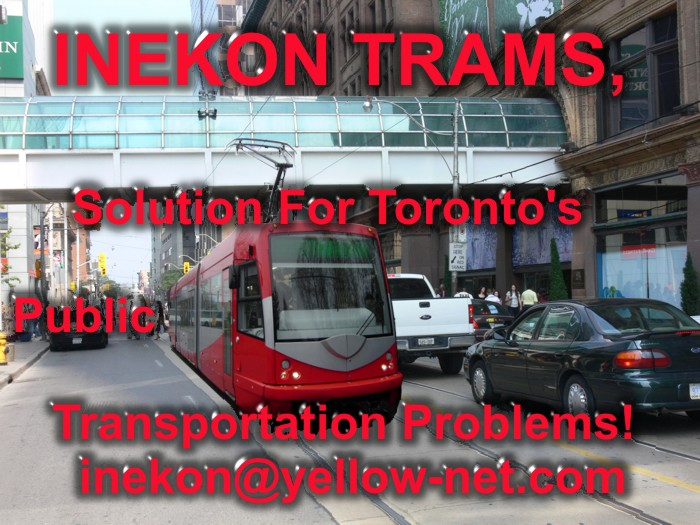 Inekon Trams for Toronto's Public Transportation System